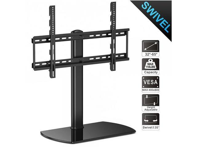 Fitueyes Universal Tv Stand Base Swivel Tabletop Tv Stand With