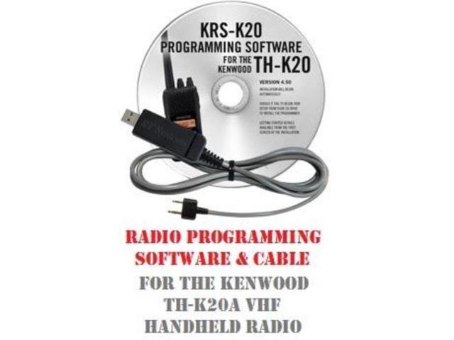 Kenwood TH-K20A VHF Handheld Two-Way Radio Programming Software & Cable Kit  - Newegg com
