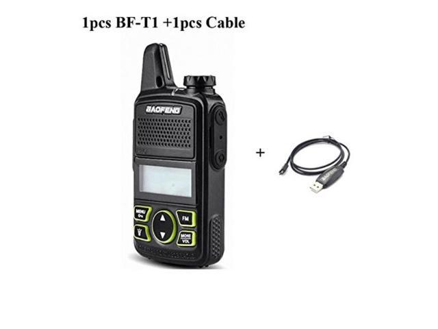 d4eed3f356c Original BAOFENG BF-T1 MINI Walkie Talkie UHF 400-470mhz Portable Two Way  Radio Ham Radio Micro USB Transceiver+Programming cable