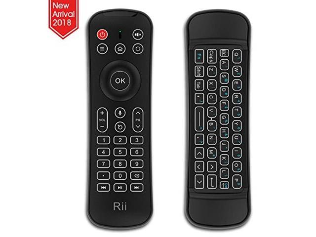 rii backlit fly mouse 2 4g mx6 multifunctional wireless mini keyboard and  remote control with microphone for fire tv,kodi,raspberry pi 2,3, android