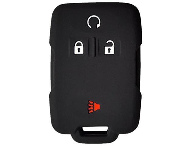 rpkey silicone keyless entry remote control key fob cover case protector  for chevrolet silverado 1500 2500 hd 3500 hd colorado tahoe suburban gmc