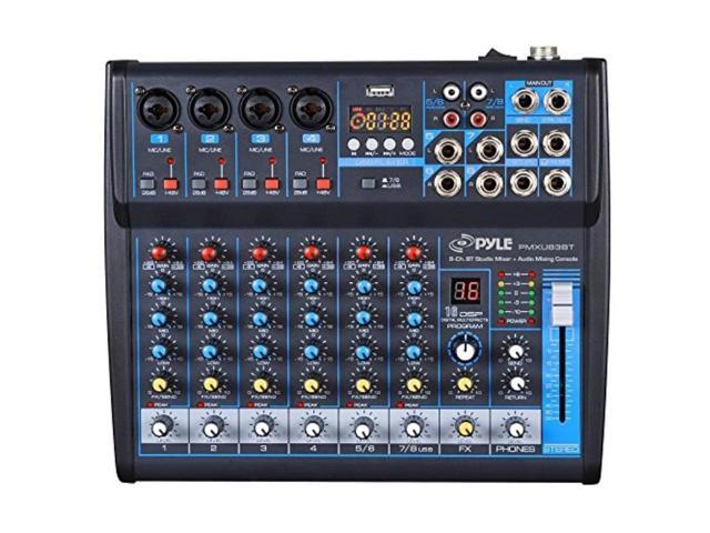 pyle 8ch studio dj mixer audio interface mixing sound system bluetooth wireless streaming usb. Black Bedroom Furniture Sets. Home Design Ideas