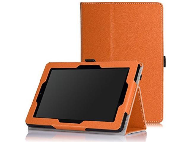 moko case for fire hd 7 2014 slim folding cover with auto wake / sleep for  kindle fire hd 7 inch 4th generation tablet not fits hd 7 2015, orange -
