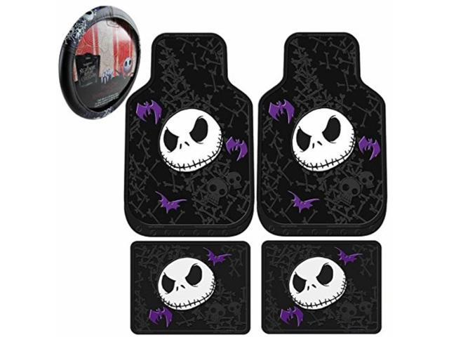 5pc nightmare before christmas rubber floor mats steering wheel cover set new - Nightmare Before Christmas Steering Wheel Cover