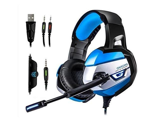 onikuma gaming headset for xbox one pc ps4 with mic over ear stereo noise  cancelling headphones for iphone ipod laptop with usb - Newegg com