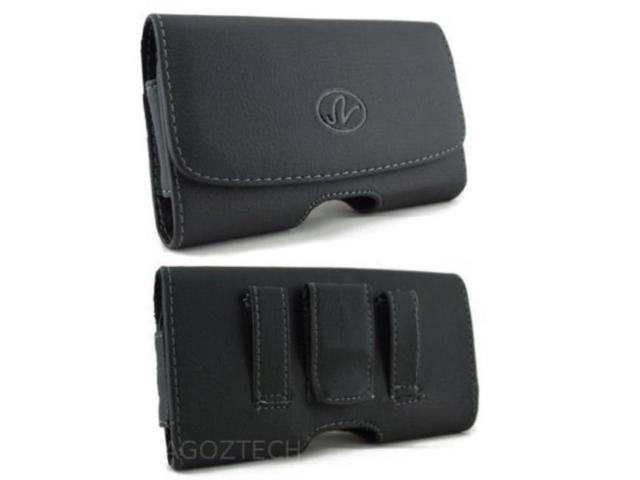 more photos 5deaf 62872 leather belt clip case holster for motorola droid maxx xt1080m fits with  otterbox commuter on it new! - Newegg.com