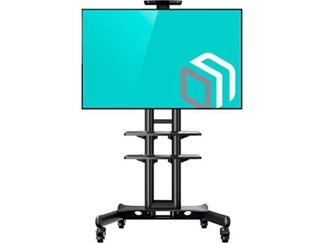 Onkron Mobile Tv Stand Tv Cart With Wheels 2 Av Shelves For 32 65
