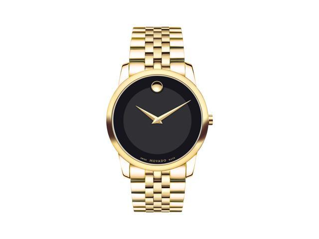 47b638191a4 Movado Men s 0606997 Museum Gold Tone Stainless Steel Bracelet Mens Watch