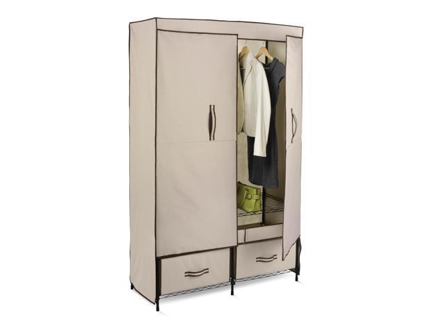Heavy Duty Double Door Storage Closet With 2 Drawers   43u0027u0027 Wide