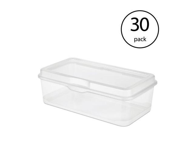Sterilite Plastic Fliptop Latching Storage Box Container Clear 30 Pack
