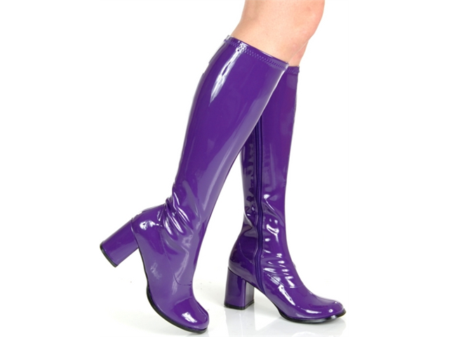 a3e81b13886 NEW Womens Purple GoGo 70s Disco Costume Boots - Newegg.com