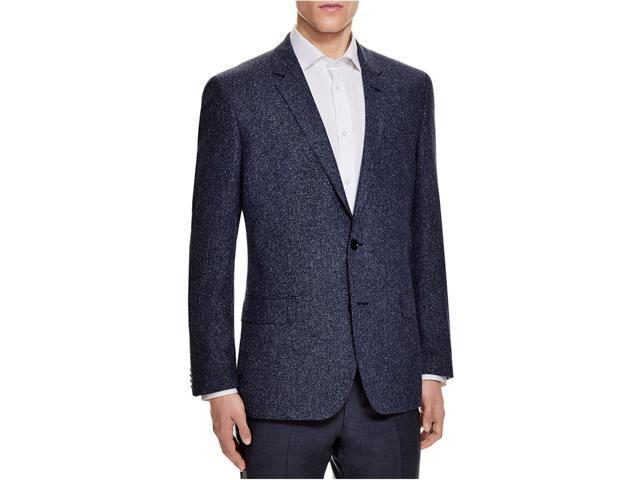 ab7f4c146 Hugo Boss Mens Textured Slim Fit Two Button Blazer Jacket blue 38 ...