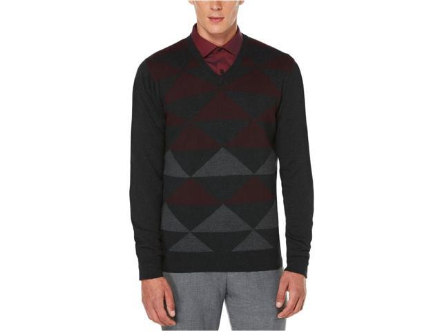 Perry Ellis Mens Intarsia Pullover Sweater portprinciples 2XL ... f700408bc