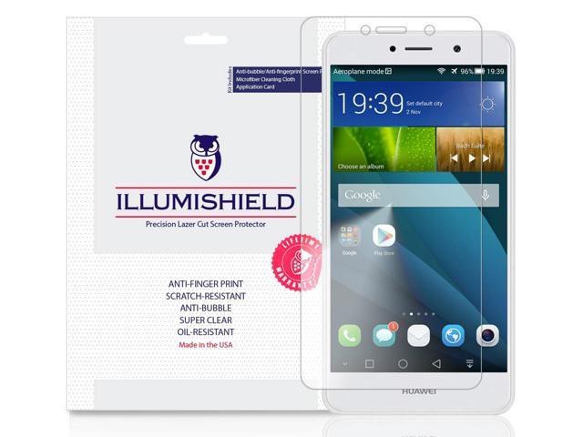 iLLumiShield Screen Protector Compatible with Huawei Elate (4G)(3-Pack)  Clear HD Shield Anti-Bubble and Anti-Fingerprint PET Film - Newegg com