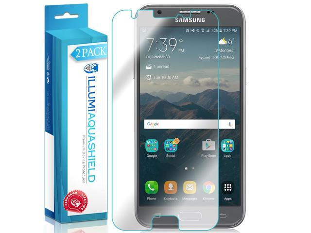 ILLUMI AquaShield Screen Protector Compatible with Samsung Galaxy J3 Emerge  (AMP Prime 2, J3 Prime, J3 Luna Pro)(2-Pack) No-Bubble High Definition