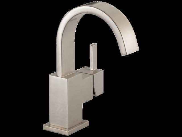 Delta 553lf Ss Vero Single Hole 1 Handle High Arc Bathroom Faucet In