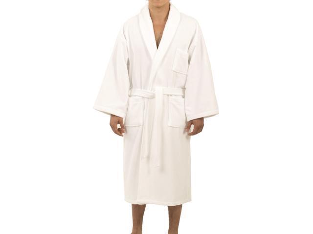 Alpine Swiss Aiden Mens Cotton Terry Cloth Bathrobe Shawl Collar Velour Spa  Robe 39c38c972