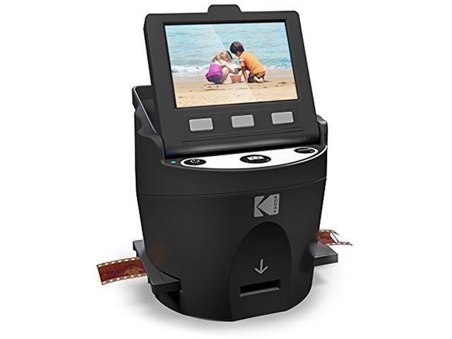 KODAK SCANZA Digital Film & Slide Scanner Converts 35mm, 126, 110, Super 8  & 8mm Film Negatives & Slides to JPEG Includes Large Tilt-Up 3 5 LCD,
