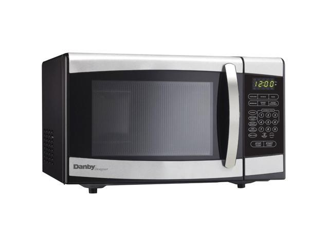 Danby Designer Dmw077bd Countertop Microwave 0 7 Cu Ft Black And Stainless Steel