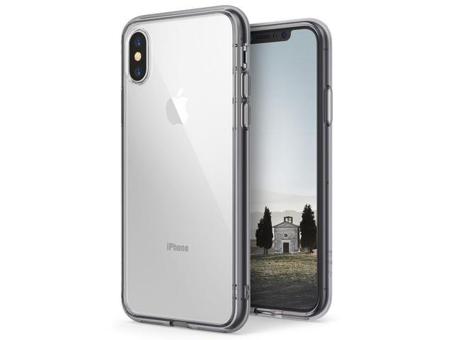 newest collection dc4a5 0e1dd Apple iPhone X Case, Ringke [FUSION] Crystal Clear PC Back TPU Bumper Drop  Protection Cover For iPhone 10 - Smoke Black - Newegg.com