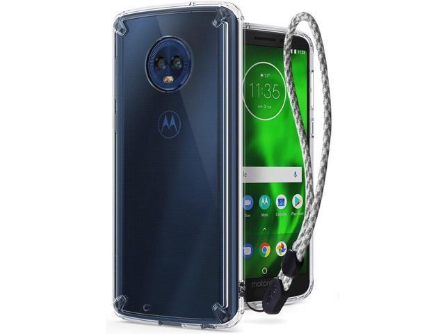 brand new 064d8 682fd Motorola Moto G6 Case, Ringke [FUSION] Clear PC Back Case [Anti-Cling Dot  Matrix Technology] Lightweight TPU Bumper Cover with Wrist Strap - Clear -  ...