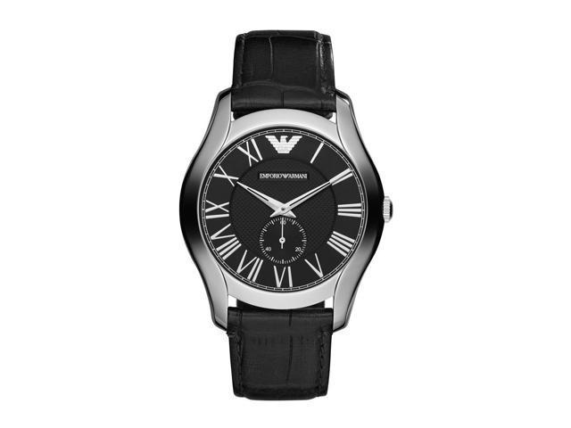 e502a5730366 AR1703 de reloj para hombre de piel de cocodrilo negra de Emporio Armani -  Newegg.com