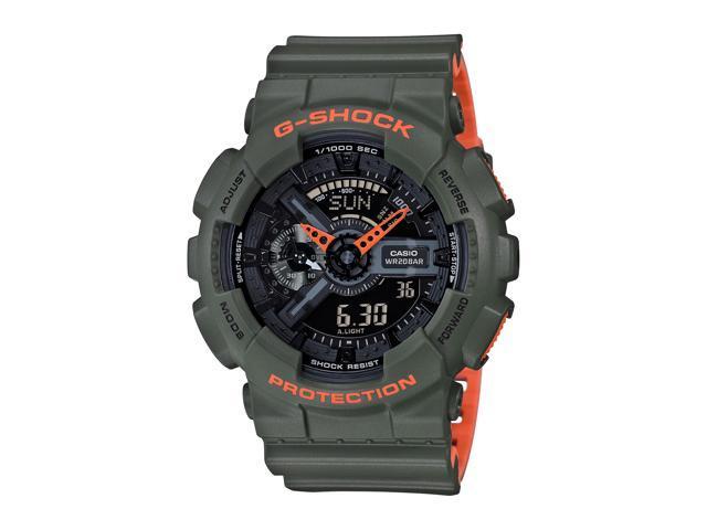 12014ea7b Casio G-Shock GA-110LN Analog-Digital Men's Watch (Green ...