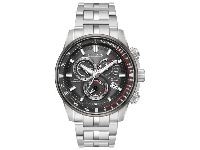 Citizen Eco Drive Stainless Steel Chronograph Mens Watch At4129 57h