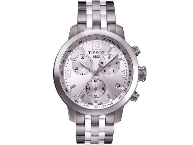 b2e083382d3 Tissot T055.417.11.037.00N PRC 200 Chronograph Men's Watch Silver 41mm  Stainless Steel