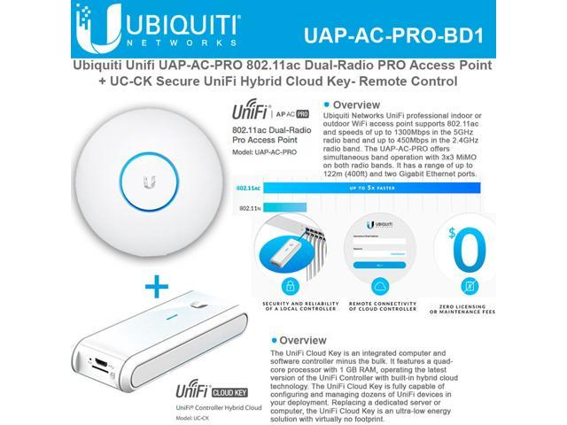 Ubiquiti Unifi 802 11ac Dual-Radio PRO Access Point w/ Ubiquiti Unifi Cloud  Key - Newegg com