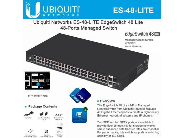 Ubiquiti Networks ES-48-LITE EdgeSwitch 48 Gigabit Switch 48-Ports SFP+ 56W  - Newegg com