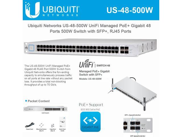 Ubiquiti Networks 48 Port Unifi Switch Managed Poe Gigabit Switch