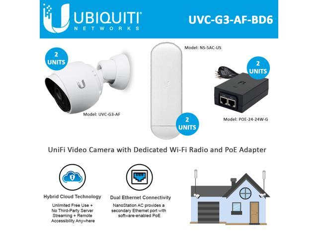 Ubiquiti Networks UniFi Video Camera G3 Indoor/Outdoor 2UNITS with  NanoStation AC 5 GHz 2UNITS and PoE Injector 24W 2UNITS - Newegg com