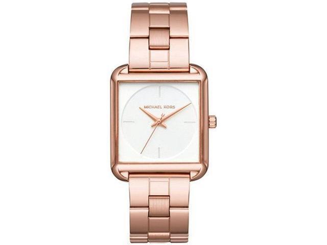 dec068cb03a5 Women s Michael Kors Lake Rose Gold Square Watch MK3645 ...