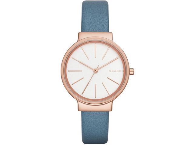 fb00fcbf6 Women's Skagen Ancher Blue Leather Strap Watch SKW2482 ...