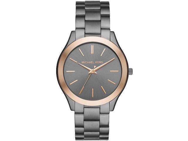 35907a717d55 Michael Kors MK3551 Mens Slim Runway Gunmetal Steel Watch ...