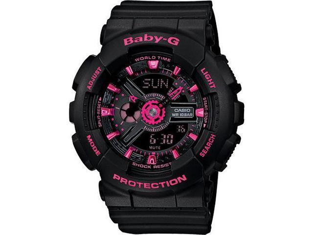 b55c012036 Casio Baby-G Black And Pink Ani-Digi Watch BA111-1A - Newegg.com