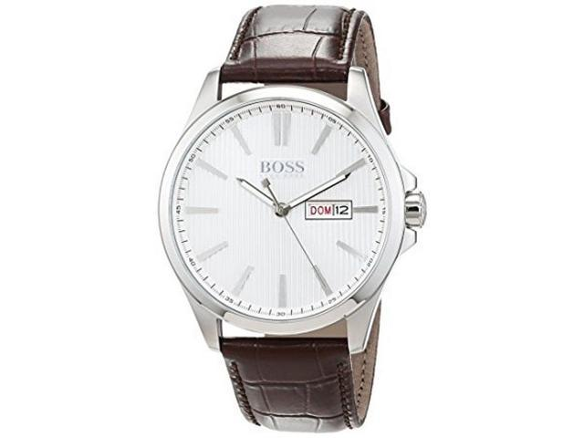 Men S Hugo Boss The James Brown Leather Watch 1513532 Newegg Com