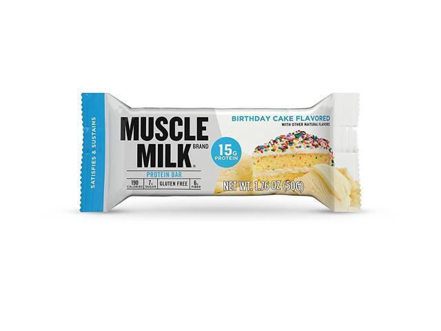 CytoSport Muscle Milk Protein Bar 15g Birthday Cake 12 Bars