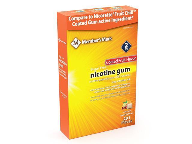 Member's Mark 2mg Nicotine Gum, Coated Fruit Flavor (231 ct ) - Newegg com