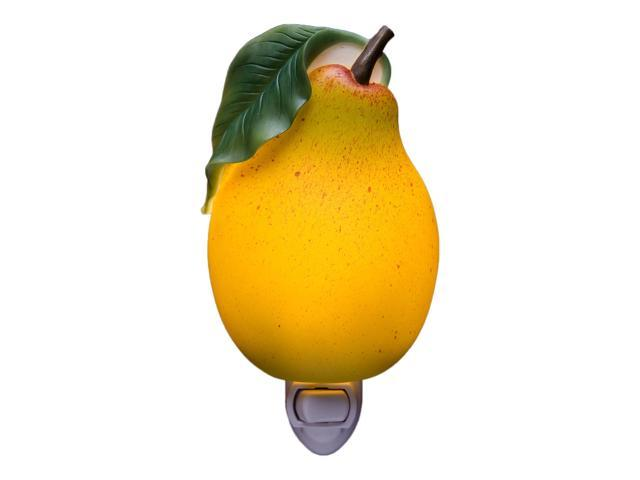 Yellow Pear Fruit Night Light Kitchen Decor