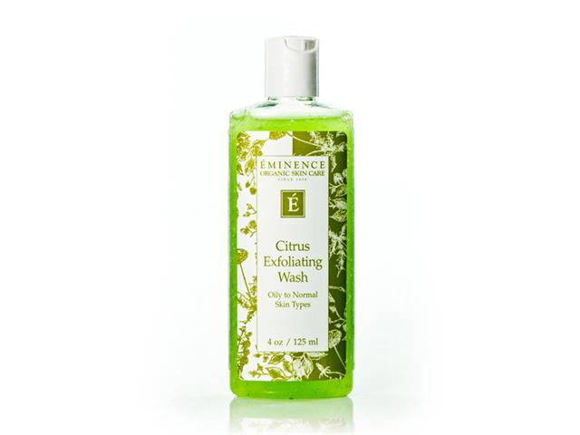 Eminence Citrus Exfoliating WASH 4 oz Exfoliant Fluid Cream with  AHA & BHA (Face & Hand Care) (Salon Size) 3.38oz
