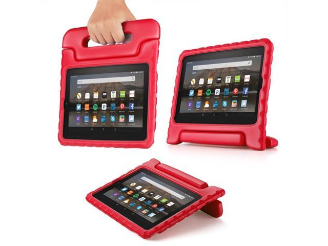 71f5820bafc2cf All-New Fire HD 8 Tablet Case - Kids Shock Proof Soft Light Weight  Childproof Impact Drop Resistant Protective Stand Cover Case with Handle  for Amazon Fire ...
