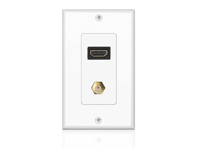 hdmi   f connector wall plate face cover coaxial combo