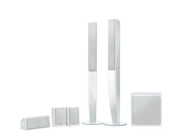 Yamaha NS-PA40 5.1 Channel Speaker System Compatible with HD Audio Sources (White)