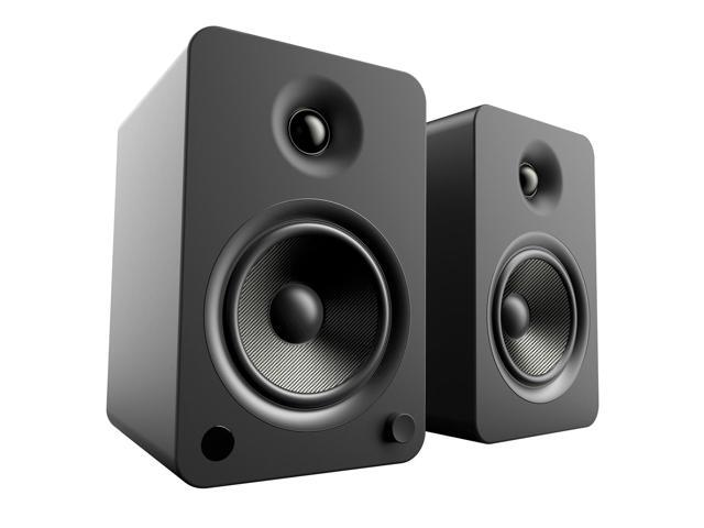 Kanto YU6 Powered Bookshelf Speakers with Built-In Bluetooth - Pair (Matte Black)