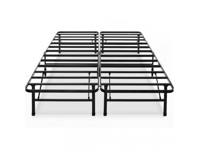 Modern Bi-Fold Folding Metal Bed Frame Mattress Foundation BF, Queen ...