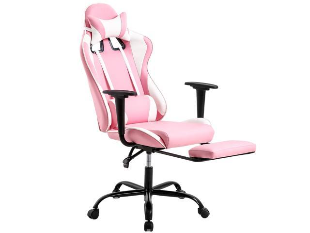 PC Gaming Chair Desk Chair Ergonomic Office Chair Executive High Back PU  Leather Racing Computer Chair with Lumbar Support Footrest Modern Task ...