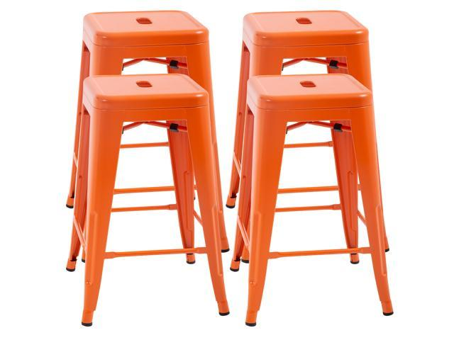 Miraculous Counter Height Bar Stools Set Of 4 Metal Bar Stools Industrial Metal Stool Patio Furniture 24 Inches Kitchen Counter Stool Indoor Outdoor Stool Moden Ncnpc Chair Design For Home Ncnpcorg