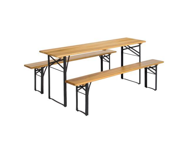 Best choice products portable 3 piece folding picnic table set w best choice products portable 3 piece folding picnic table set w wooden tabletop watchthetrailerfo